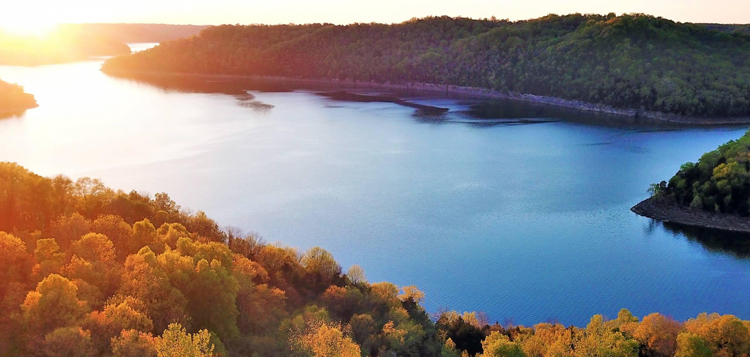 Sunset at Center Hill Lake